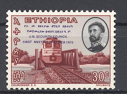 Ethiopia, 1972, Train, Railways, United Nations Overprint, 30c, MNH, Michel 697 - Ethiopia