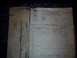 Facture & Lettre De Change Essences Pétrole  Esso Standard Stanavo L'économique à Paris Av.champs Élisée 1933 - France