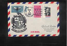 USA 1966 Antarctica US Navy USS Glacier Operation Deep Freeze Task Force 43 Interesting Letter - Polare Shiffe & Eisbrecher