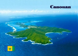 Saint Vincent And Grenadines Canouan Island Aerial View New Postcard - Saint Vincent &  The Grenadines