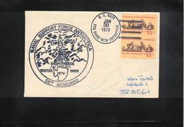 USA 1979 Antarctica McMurdo Station US Navy Operation Deep Freeze Winter Over Interesting Letter - Forschungsstationen