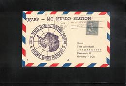USA 1965 Antarctica McMurdo Station USARP US Navy Operation Deep Freeze Interesting Postcard - Forschungsstationen