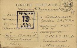 CARTE POSTALE FM Vers Oflag IVD  13 Gepruft De Saint Amand Montrond - Otros