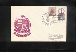 USA 1981 Antarctica US Navy Operation Deep Freeze  Task Force 99 Interesting Letter - Forschungsprogramme