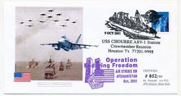 "ETATS UNIS - Oblit ""USS CHOURRE ARV1 : Operation Endring Freedom - Air Strike On Afganistan"" Oct. 2001 - Cartas"