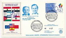 """ESPAGNE - Enveloppe Onl. """"Conferenca De Paz Sobre Oriente Medio"""" Conférence Paix Sur Le Proche Orient - 30 Oct 1991 - 1991-00 Lettres"""