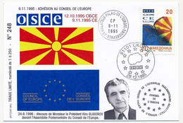 MACEDOINE - Adhésion Au Conseil De L'Europe - 9/11/1995 - Macedonia