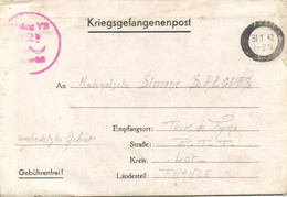 KRIEGSGELANGENENPOST  Vers Lager Bezeichnung VB  De Tour De Faure Lot 31 1 42   RV - Otros