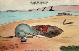 Illustration O. Vilaseca - Le Rat Et L'huître: Tel Est Pris Qui Croyait Prendre - Fable Satirique (Allemagne Et URSS) - Other Illustrators