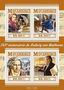 MOZAMBIQUE 2015 SHEET BEETHOVEN COMPOSERS COMPOSITEURS COMPOSITORES KOMPONISTEN Moz15316a - Mozambique