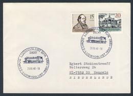 DDR Germany 1990 Brief Cover - 100 Jahre Eisenbahn Dömitz - Ludwigslust 1890 / Railway / Chemin De Fer - Trains