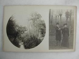 CARTE PHOTO - Portrait D'un Couple En Forêt - Fotografía