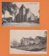 BISSY SOUS FLEY 71 ( LE  CHATEAU )    LOT DE 2 CARTES - Autres Communes