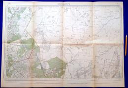 Meting 1871-1909 ARENDONK STAFKAART 9 POPEL REUSEL VELDHOVEN BORKEL ZEELST MIERDE REUSEL BLADEL CASTEREN VESSEM S412 - Arendonk