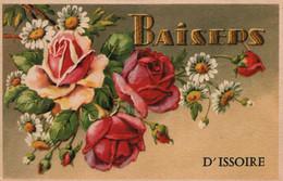 Souvenir - Baisers D'Issoire - Illustration Fleurs - Carte Sipha Non Circulée - Gruss Aus.../ Gruesse Aus...