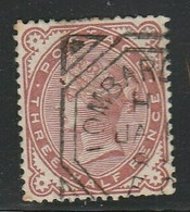 Great Britain, VRI, 1880, 1 1/2d Venetian Red, Used, Squared Octagonal D.s. LOMBARD (STREET) JA 1 .. 85 - Used Stamps