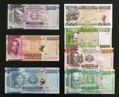 GUINEA RESIZE SET 100 500 1000 2000 5000 10000 20000 FRANCS BANKNOTES 2012-2018 UNC - Guinea