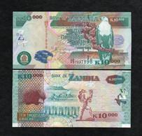 ZAMBIA 10000 (10,000) KWACHA BANKNOTE 2007 UNC P-46d Scarce!!! - Zambia