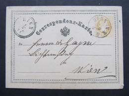 GANZSACHE Horn NÖ - Wien 1871  /////  D*46402 - 1850-1918 Imperium