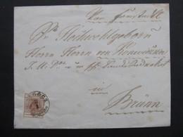 BRIEF Galgocz - Brünn Via Tyrnau Ca.1850 Hlohovec  /////  D*46403 - 1850-1918 Imperium