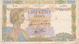 500 Francs       FB-4-1942.FB. - 500 F 1940-1944 ''La Paix''