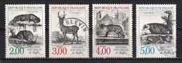 France 1988 : Timbres Yvert & Tellier N° 2539 - 2540 - 2541 Et 2542 Avec Oblitération Rondes. - Used Stamps
