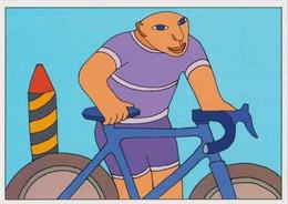 Cpm 1741/614 ERGON - Homme à Bicyclette  - Vélo - Cyclisme - Bicycle - Cycle - Illustrateurs - Illustrateur - Elliot