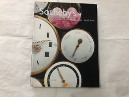 CATALOGO OROLOGI SOTHEBY'S MASTERPIECES FROM THE MUSEUM PART TWO 2002 PAG.354. - Other