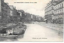 (1)       44   Nantes    Inondations De Fevrier 1904   L'erdre Au Pont D'orléans - Nantes