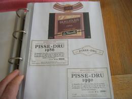 Lot étiquettes Vin (1 Feuille Recto Verso) Vin Beaujolais/vin Beaujolais Nouveau - Beaujolais