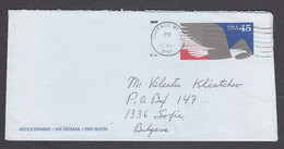 USA 1995/06 - Postal Stationary (Aerogramme), Travel From Buffalo To Bulgaria - Lettres & Documents