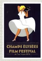 SPECTACLE CINÉMA FILM CHAMPS ELYSÉES FILM FESTIVAL 2016  MARYLINE MONROE CART'COM - Posters Op Kaarten
