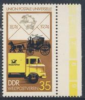 DDR Germany 1974 Mi 1987 YT 1668 SG E1703 ** Early Mailcoach + Modern Truck / Postauto Und Postkutsche - Post