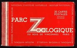 20 Cartes En Carnet Du Zoo De Vincennes: Lions, Girafes,ours Etc... - Other