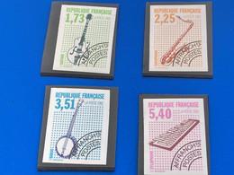 1992-NON DENTELÉ 4 Valeurs Timbres Préos**N°224/25/26/27 Préoblitéré-Côte 47 €-Yvert /Tellier France Non Dentelés-Musiqu - Ungezähnt
