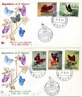 1963 SAN MARINO FDC Farfalle - FDC