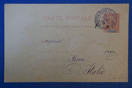 G1 GUADELOUPE  BELLE CARTE 1908 POINT A PITRE POUR ROME ITALIE - Briefe U. Dokumente
