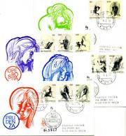 1976 SAN MARINO FDC Le Virtù Civili Allegorie Di Emilio Greco - FDC