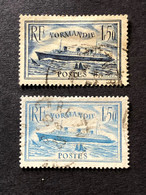 Timbres 299 Et 300 Normandie FU Oblitérés  Cote 22,50€ - France