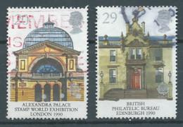 Grande-Bretagne YT N°1455/1456 Europa 1990 Batiments Postaux Oblitéré ° - Europa-CEPT