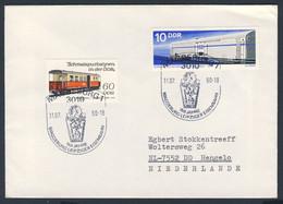 DDR Germany 1990 Brief Cover - 150 Jahre Eisenbahn Magdeburg - Leipzig, 1840 / Railway / Chemin De Fer - Trains