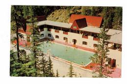 JASPER, Alberta, Canada, Miette Hot Springs Pool, Old Chrome Postcard - Jasper