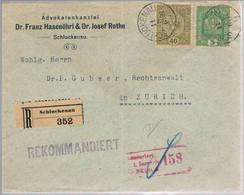 Austria, 1917, Schluckenau-Zurich - 1850-1918 Imperium