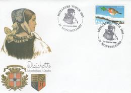 Cachet Illustré Meilleurs Voeux 2005 1/1/2005 MONTBELIARD Doubs - Cachets Commémoratifs