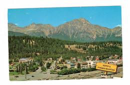 JASPER, Alberta, Canada, BEV Of Jasper And Pyramid Mountain, 1968 Chrome Postcard - Jasper