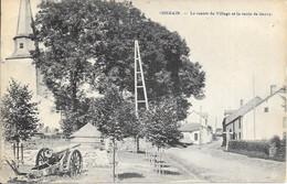 "Cherain ""Gouvy"" - Le Centre Du Village Et La Route De Gouvy - CANON - Desaix - Circulé:1921 - 2 Scans - Gouvy"