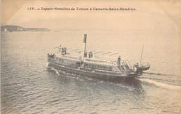 83 VAR Le Bateau Vapeur Omnibus De TOULON à TAMARIS St Mandrier - Zonder Classificatie
