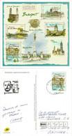 Budapest Capitale Européenne  Nouvel Entier Postal (carte) 2020, Adressé En Andorre,avec Timbre Arrivée Andorra Le Vella - Varietà & Curiosità