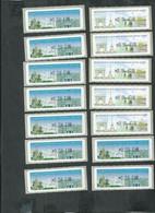 42 Vignettes Salon D'automne Paris 2007 Et 2010, Rochefort Et L'hermione 2012 +divers; Faciale 9.57€ - 1999-2009 Illustrated Franking Labels