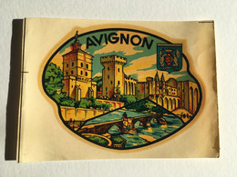 Blason Chromotransfert Décalcomanie Vintage - AVIGNON - Other